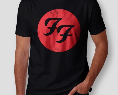 Camiseta Foo Fighters Masculina Cover