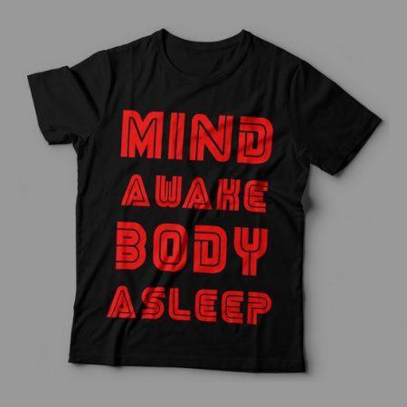 Camiseta Mind Awake Body Asleep Feminina Cover