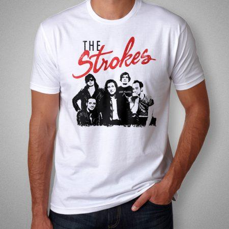 Camiseta The Strokes Masculina Branca Cover
