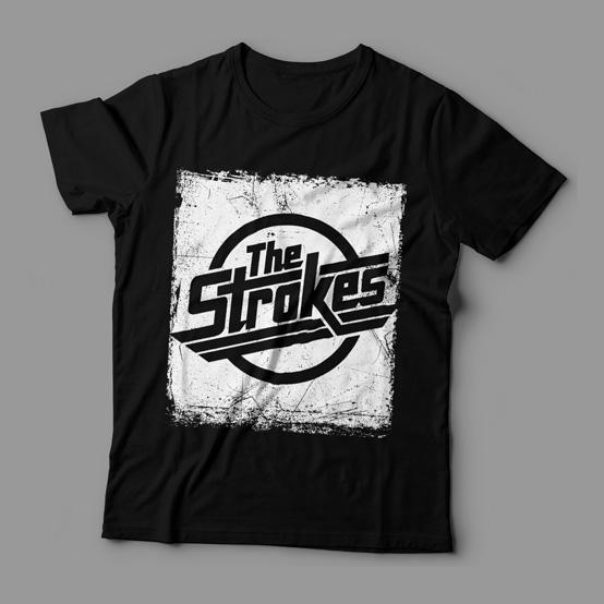 Camiseta The Strokes Distressed Feminina