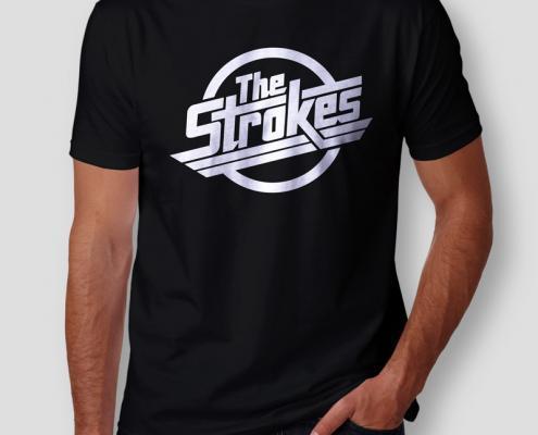 Camiseta The Strokes Logo Masculina Cover