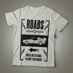 Camiseta back to the future feminina cover