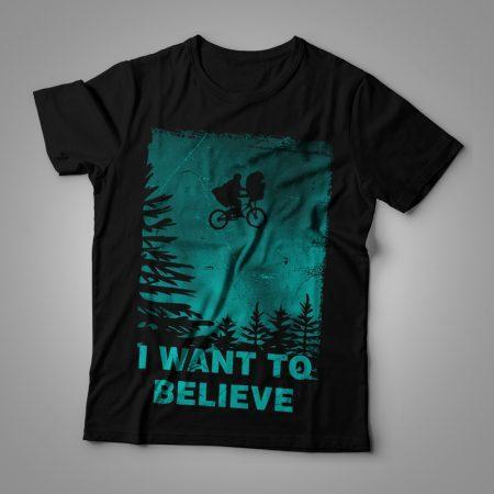 Camiseta I want to believe feminina cover