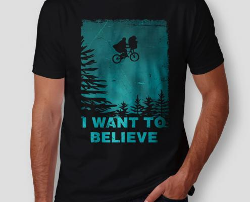 Camiseta The X Files I Want To Believe Masculina Cover