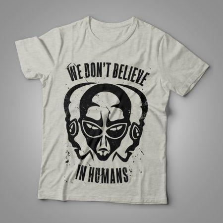 Camiseta we don't believe in humans Feminina cover