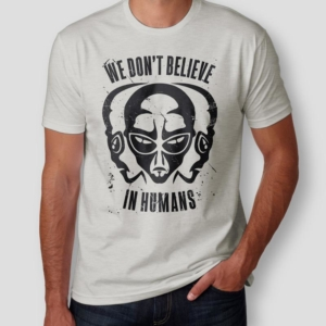 Camiseta we don't believe in humans Masculina cover