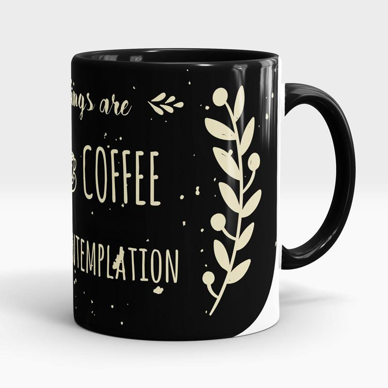 Caneca Mornings Are For Coffee And Contemplation Esquerda