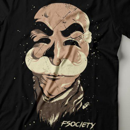 Camiseta Fsociety Máscara Feminina Zoom