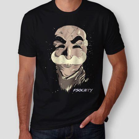 Camiseta Fsociety Máscara Masculina Cover
