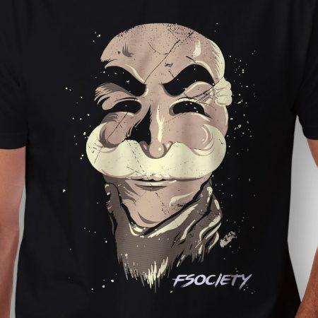 Camiseta Fsociety Máscara Masculina Zoom