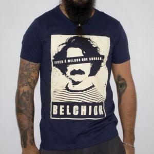 Camiseta Belchior Masculina Azul Marinho