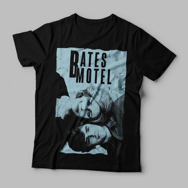 Camiseta Bates Motel Norma e Norman Feminina Capa