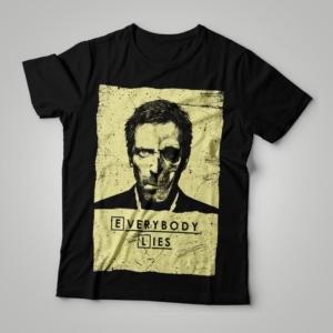 Camiseta Dr House Everybody Lies Feminina Cover