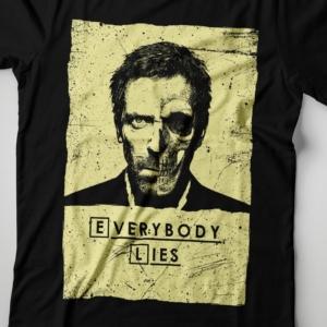Camiseta Dr House Everybody Lies Feminina Zoom