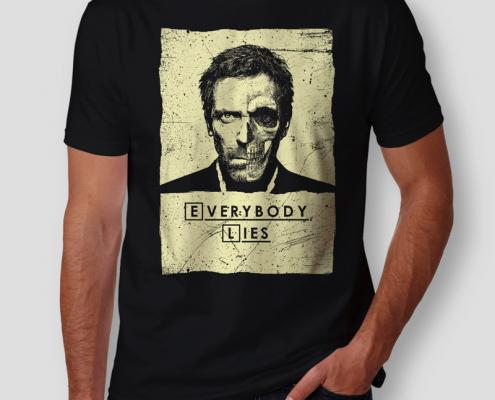 Camiseta Dr House Everybody Lies Masculina Cover