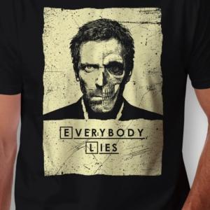 Camiseta Dr House Everybody Lies Masculina Zoom