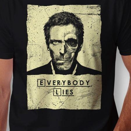 Camiseta Dr House Everybody Lies Masculina Zoom