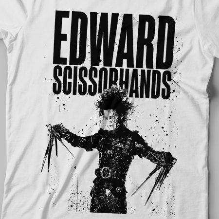 Camiseta Edward Mãos de Tesoura Branca Feminina Zoom