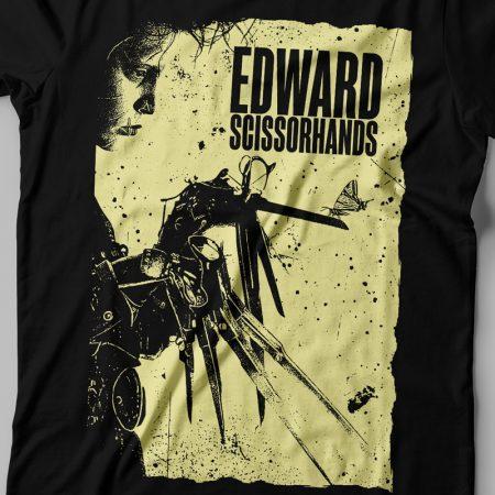 Camiseta Edward Mãos de Tesoura Preta Feminina Zoom