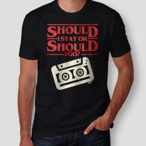 Camiseta Should I Stay Or Should I Go Masculina Capa