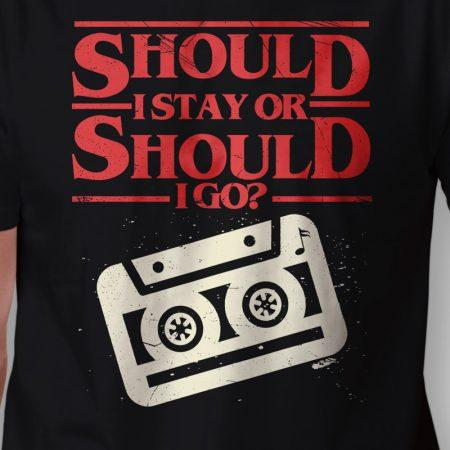 Camiseta Should I Stay Or Should I Go Masculina Zoom