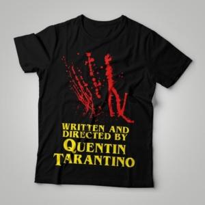 Camiseta Written And Directed By Quentin Tarantino Feminina Capa