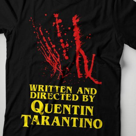 Camiseta Written And Directed By Quentin Tarantino Feminina Zoom