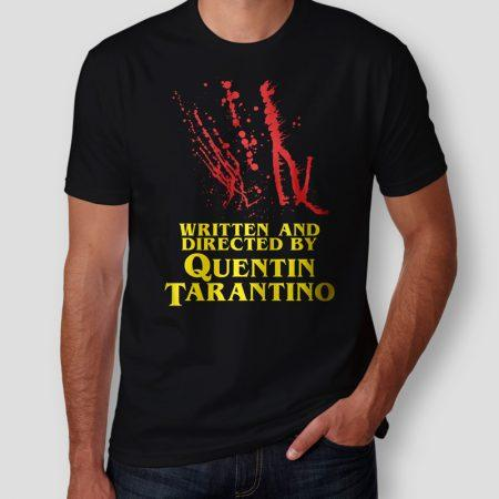 Camiseta Written And Directed By Quentin Tarantino Masculina Capa