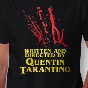 Camiseta Written And Directed By Quentin Tarantino Masculina Zoom