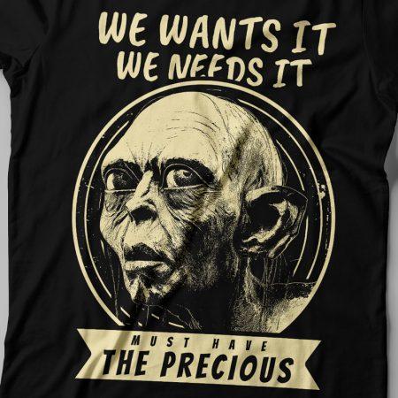 Camiseta Senhor dos Anéis Smeagol Feminina Zoom