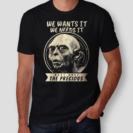 Camiseta Senhor dos Anéis Smeagol Masculina Cover