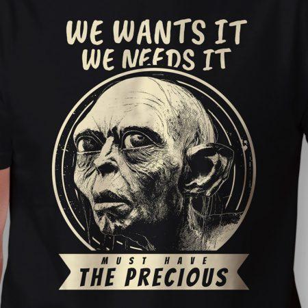 Camiseta Senhor dos Anéis Smeagol Masculina Zoom