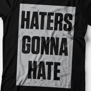 Camiseta haters gonna hate feminina zoom