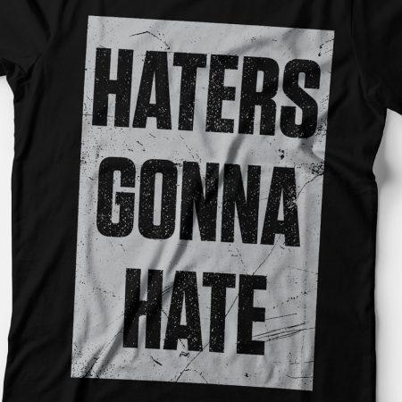 Camiseta haters gonna hate feminina zoom