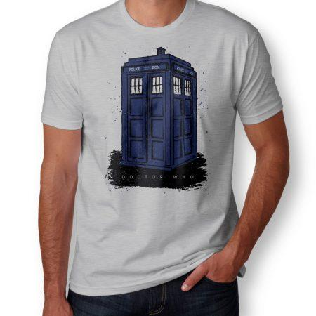 Camiseta Doctor Who Police Box Masculina Cover