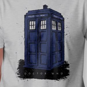 Camiseta Doctor Who Police Box Masculina Zoom
