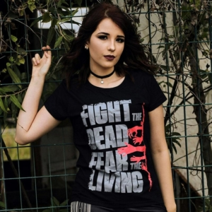 Camiseta The Walking Dead Fear The Living Feminina Capa