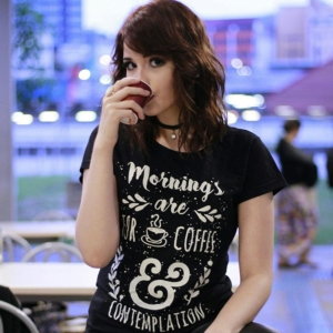 Camiseta Mornings Are For Coffee and Contemplation Feminina Cover