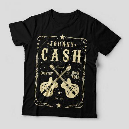 Camiseta Johnny Cash Feminina Capa
