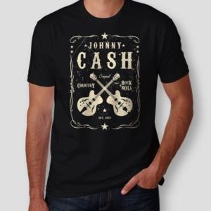 Camiseta Johnny Cash Masculina Capa