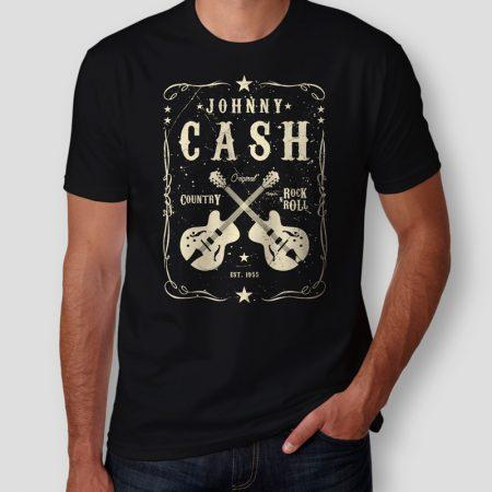 Camiseta Johnny Cash Masculina Capa