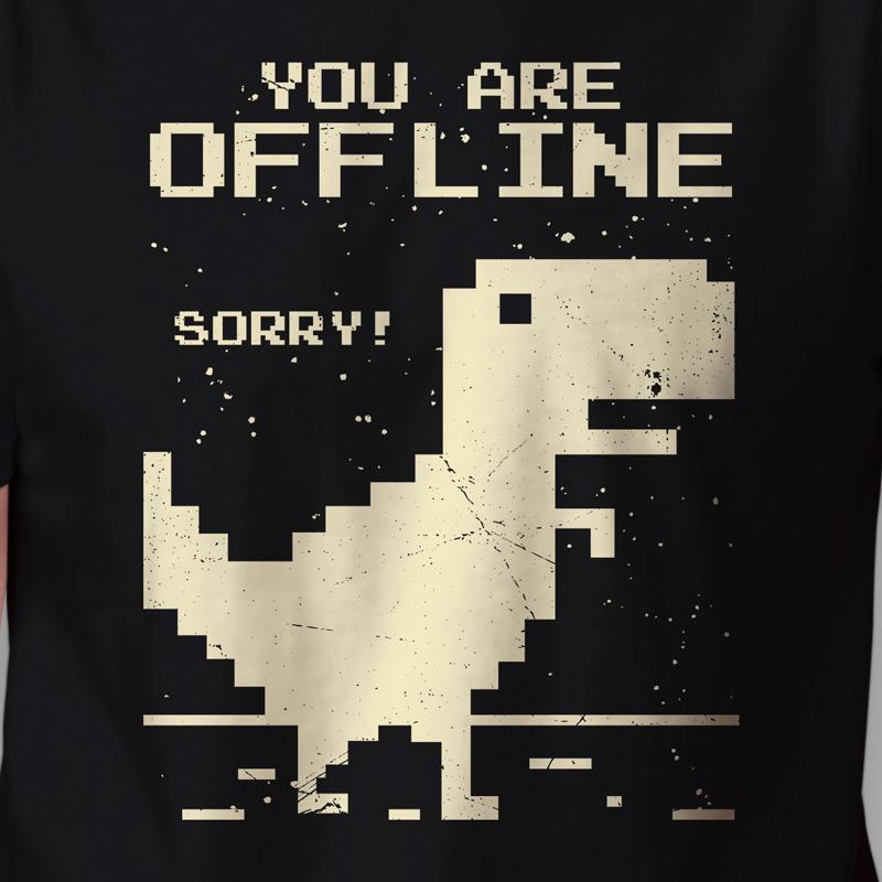 Camiseta Dinossauro Offline Arte