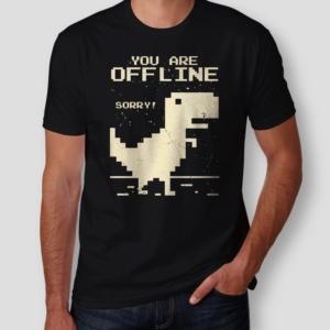 Camiseta Dinossauro Offline Masculina Cover