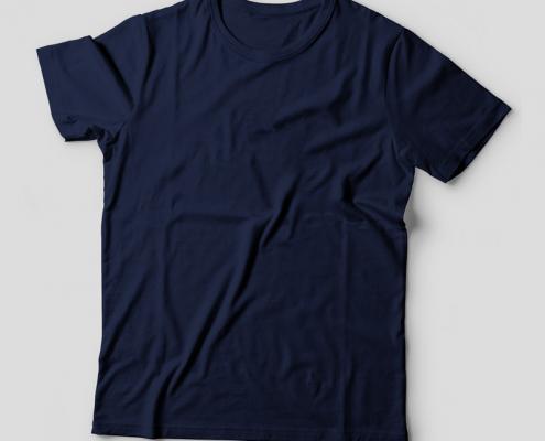 Camiseta Básica Azul Marinho Feminina Foto
