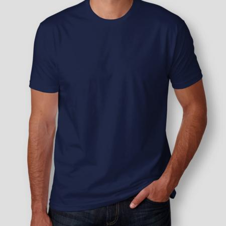 Camiseta Básica Azul Marinho Masculina Foto