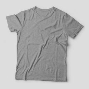 Camiseta Básica Cinza Mescla Feminina Foto