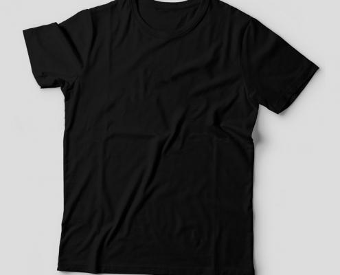 Camiseta Básica Preta Feminina Foto