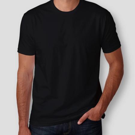 Camiseta Básica Preta Masculina Foto