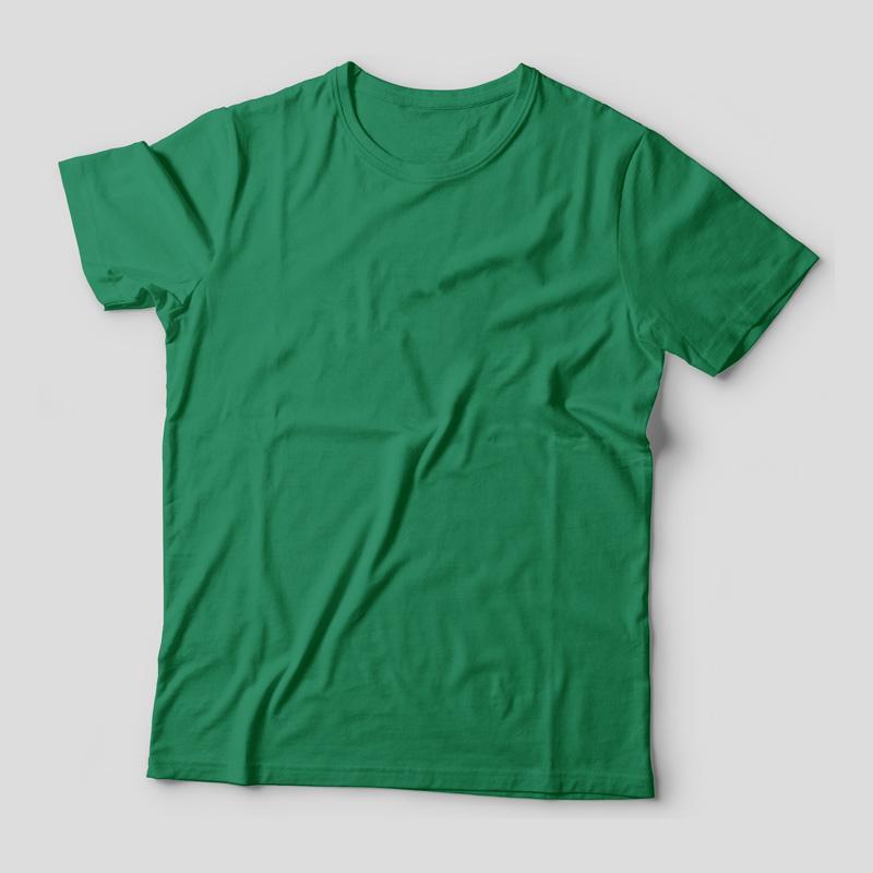 Camiseta Básica Verde Feminina Foto