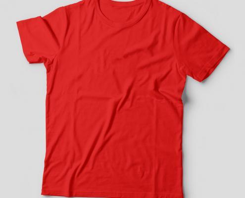 Camiseta Básica Vermelha Feminina Foto